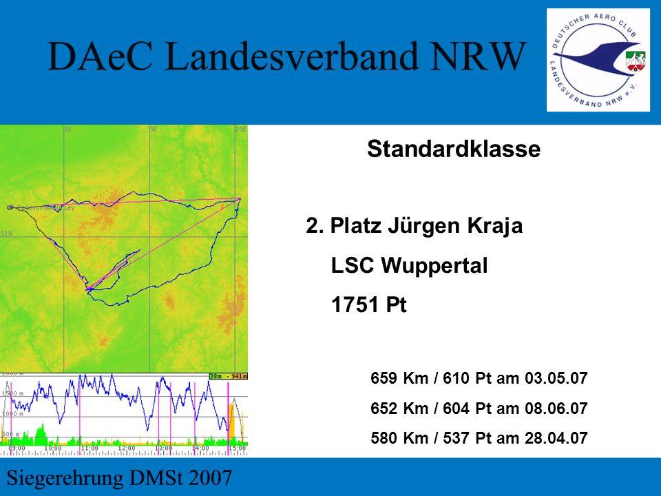 Standardklasse 2. Platz Jürgen Kraja LSC Wuppertal 1751 Pt