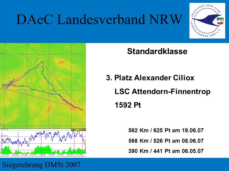 Standardklasse 3. Platz Alexander Ciliox LSC Attendorn-Finnentrop