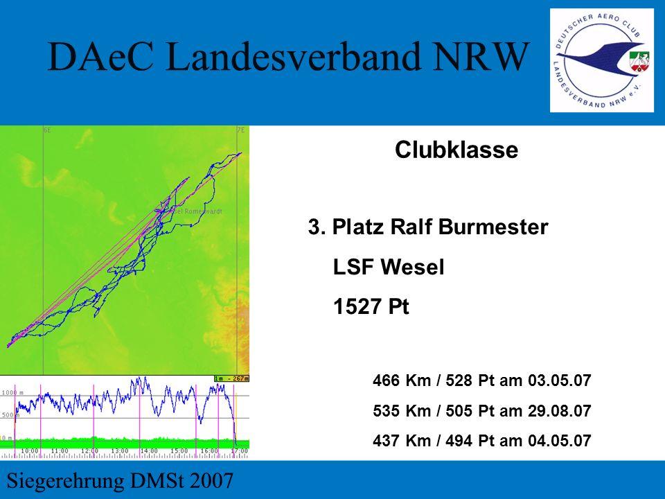 Clubklasse 3. Platz Ralf Burmester LSF Wesel 1527 Pt