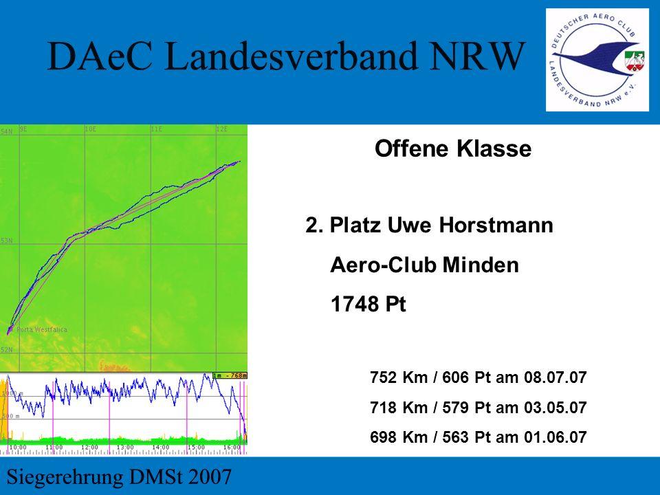 Offene Klasse 2. Platz Uwe Horstmann Aero-Club Minden 1748 Pt