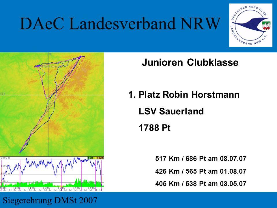 Junioren Clubklasse Platz Robin Horstmann LSV Sauerland 1788 Pt