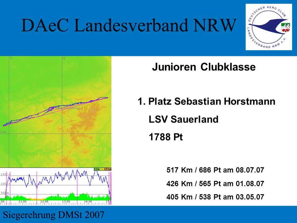 Junioren Clubklasse 1. Platz Sebastian Horstmann LSV Sauerland 1788 Pt