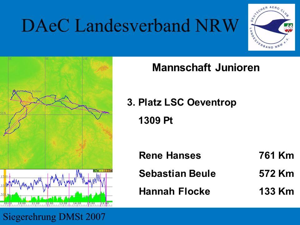 Mannschaft Junioren 3. Platz LSC Oeventrop 1309 Pt Rene Hanses 761 Km