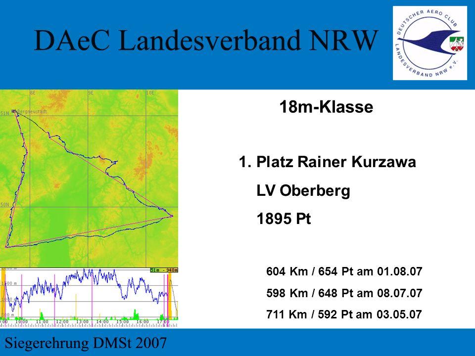 18m-Klasse Platz Rainer Kurzawa LV Oberberg 1895 Pt