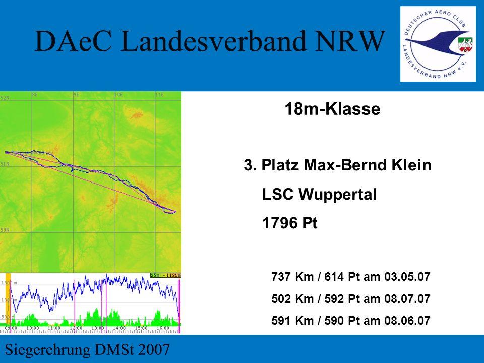 18m-Klasse 3. Platz Max-Bernd Klein LSC Wuppertal 1796 Pt
