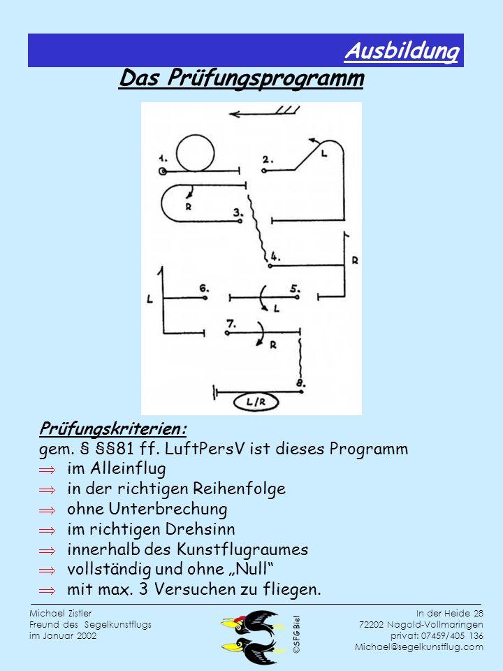 Ausbildung Das Prüfungsprogramm Prüfungskriterien: