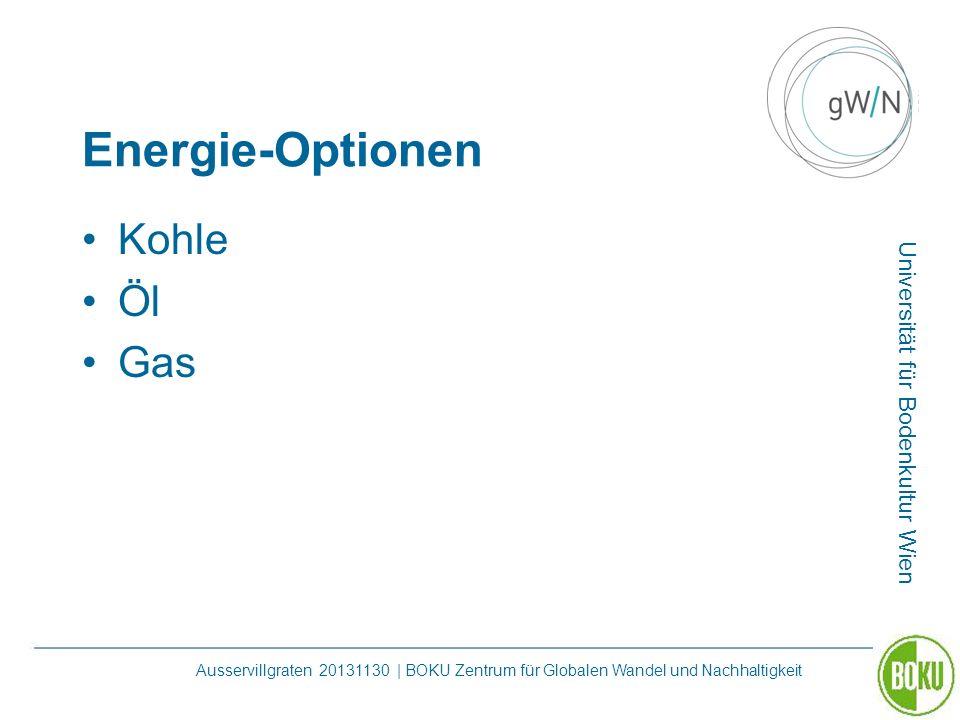Energie-Optionen Kohle Öl Gas