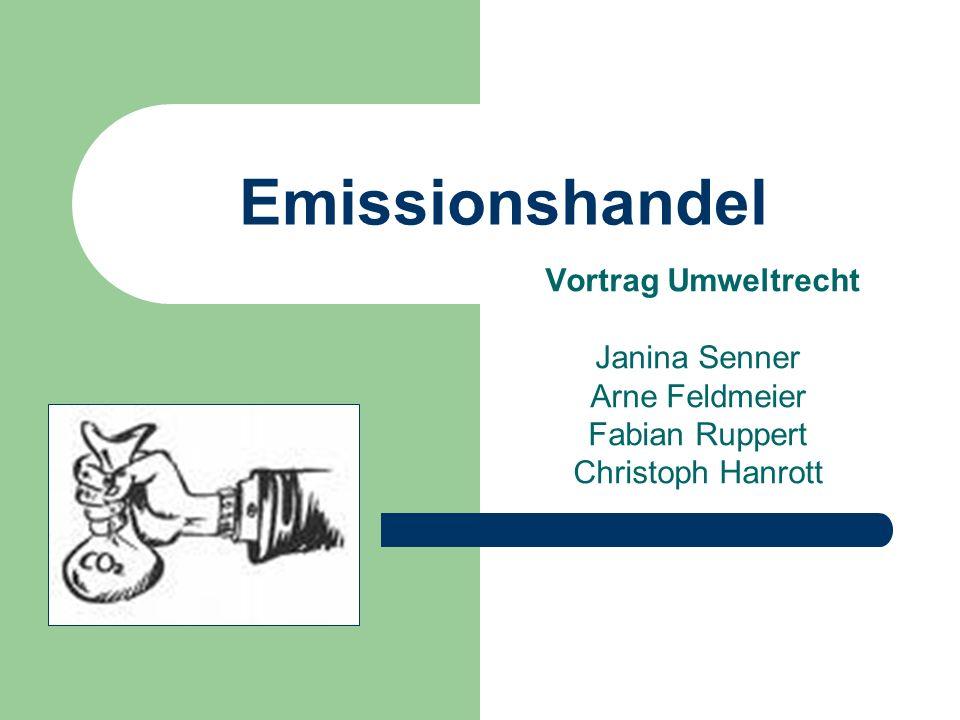 Emissionshandel Vortrag Umweltrecht Janina Senner Arne Feldmeier