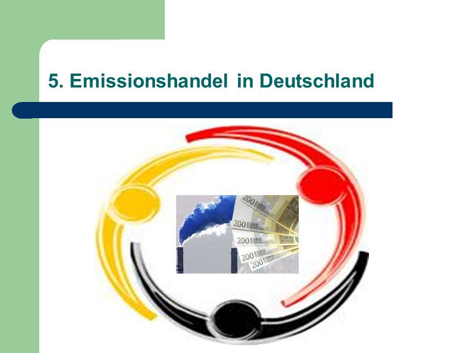 5. Emissionshandel in Deutschland