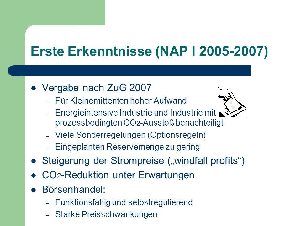 Erste Erkenntnisse (NAP I 2005-2007)