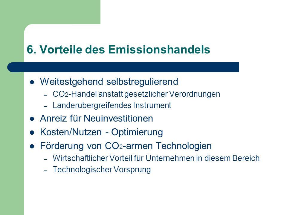 6. Vorteile des Emissionshandels
