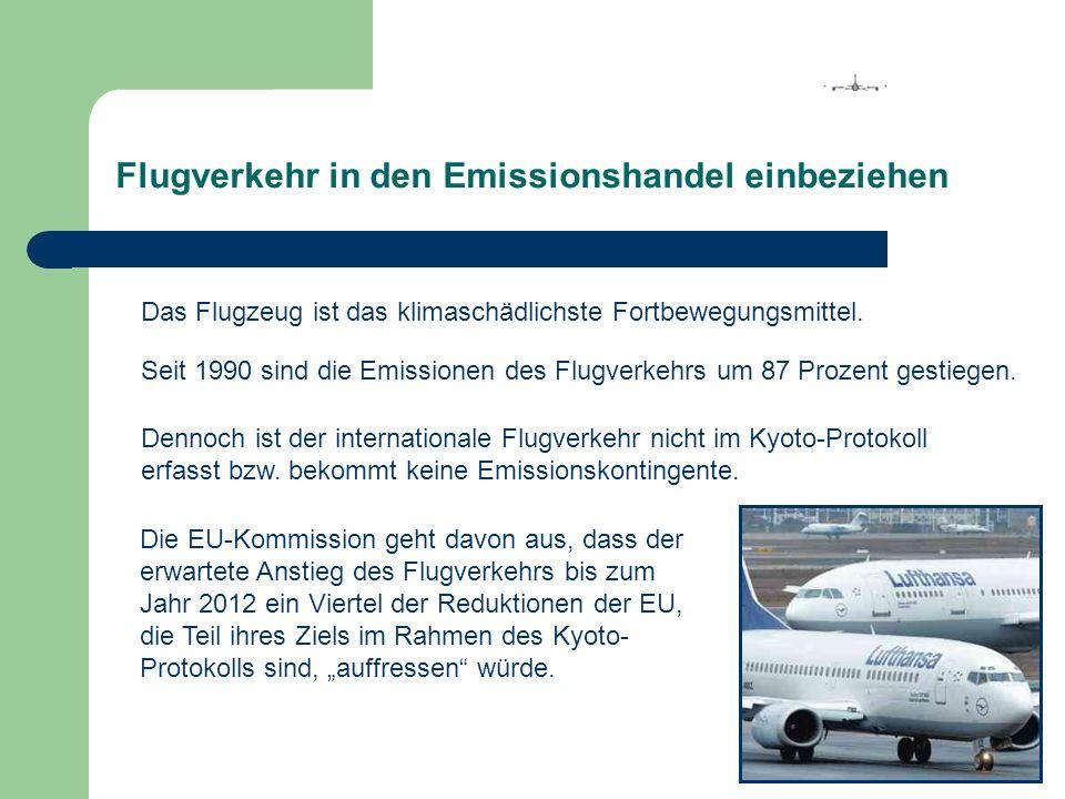 Flugverkehr in den Emissionshandel einbeziehen