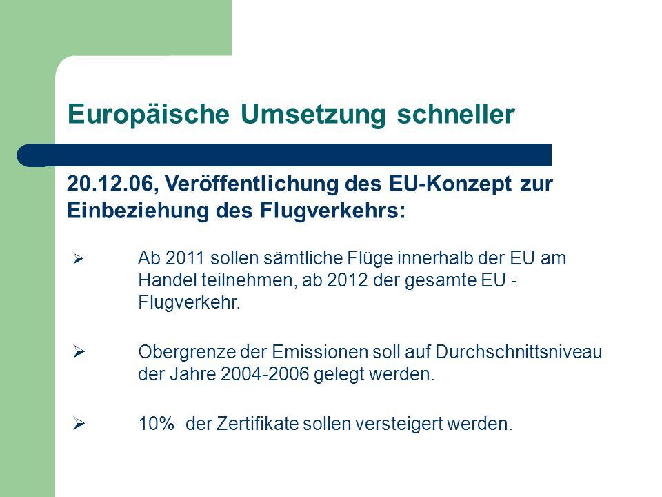 Europäische Umsetzung schneller
