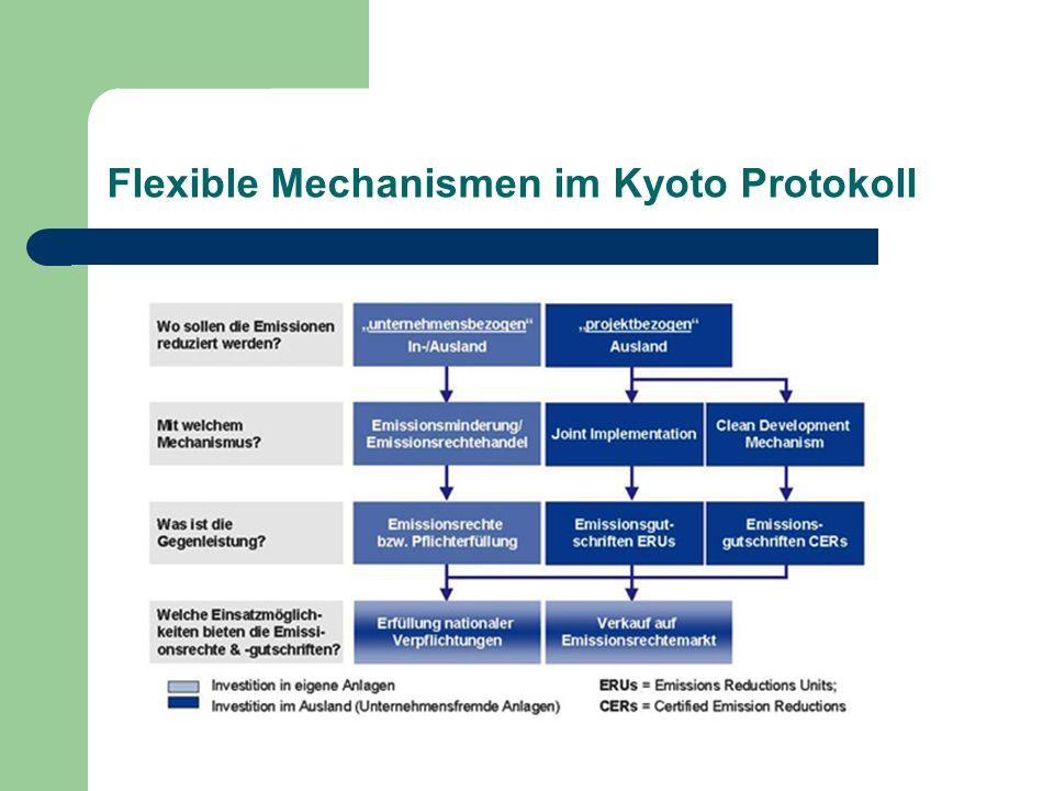 Flexible Mechanismen im Kyoto Protokoll
