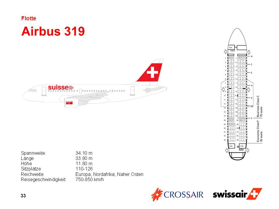 Flotte Airbus 319