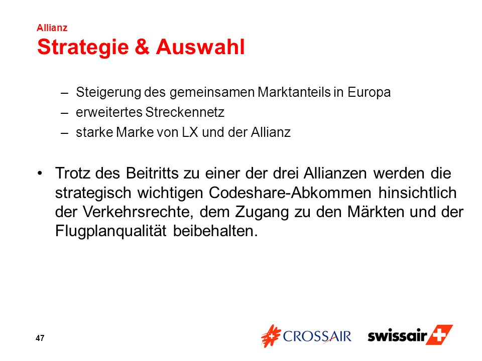 Allianz Strategie & Auswahl