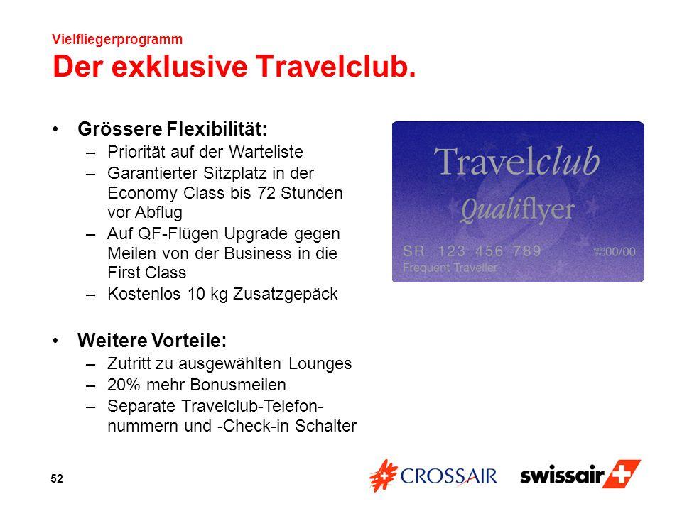 Vielfliegerprogramm Der exklusive Travelclub.
