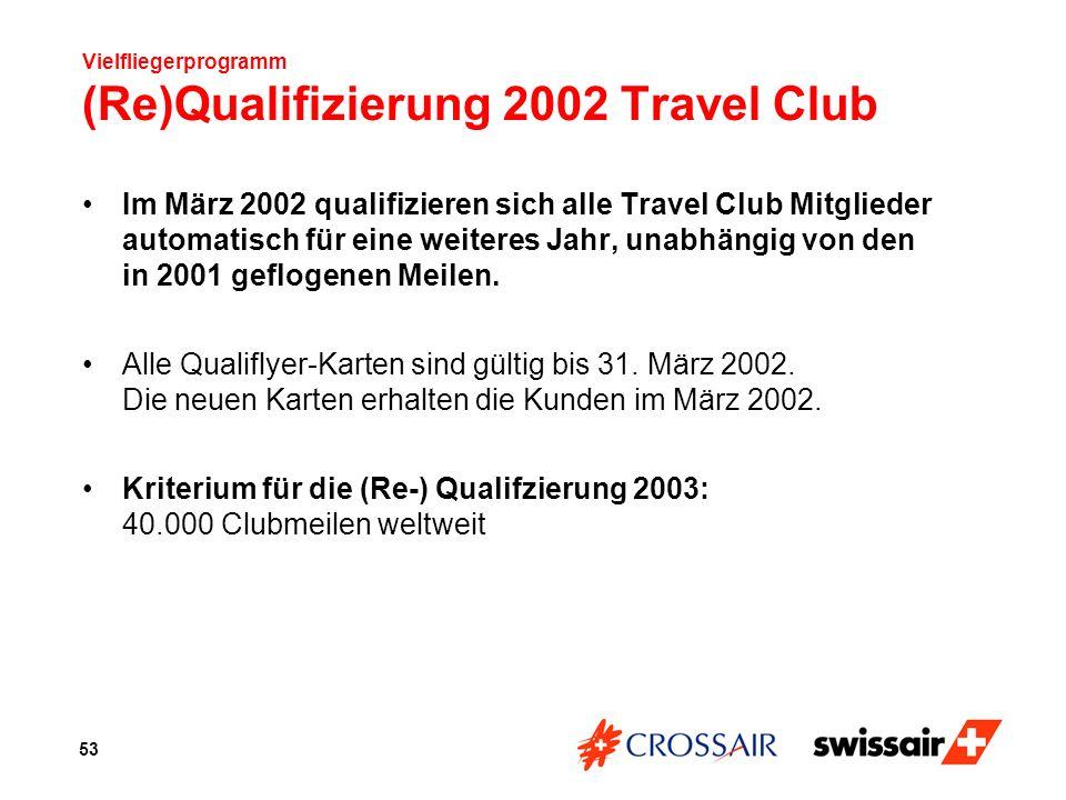 Vielfliegerprogramm (Re)Qualifizierung 2002 Travel Club