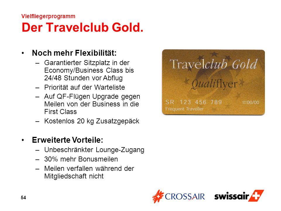 Vielfliegerprogramm Der Travelclub Gold.