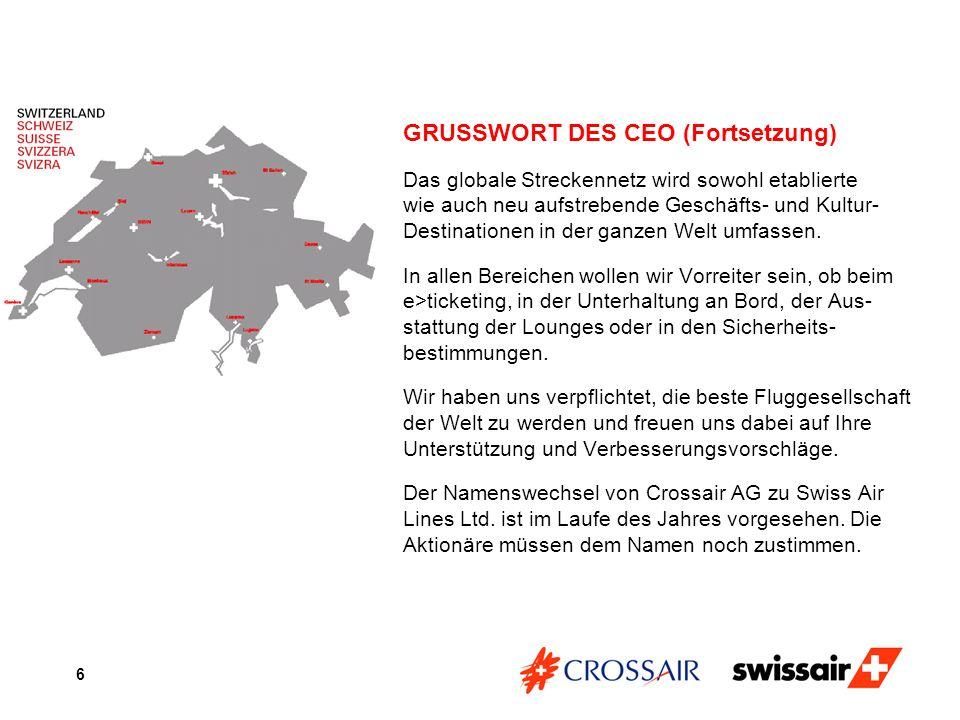 GRUSSWORT DES CEO (Fortsetzung)