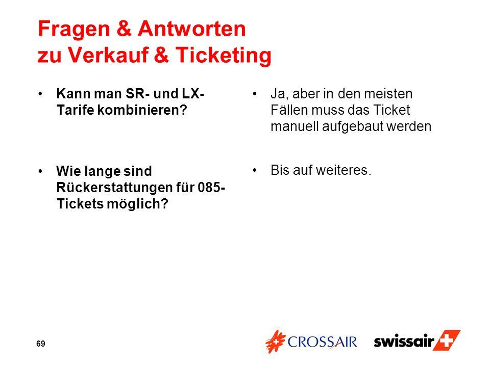 Fragen & Antworten zu Verkauf & Ticketing
