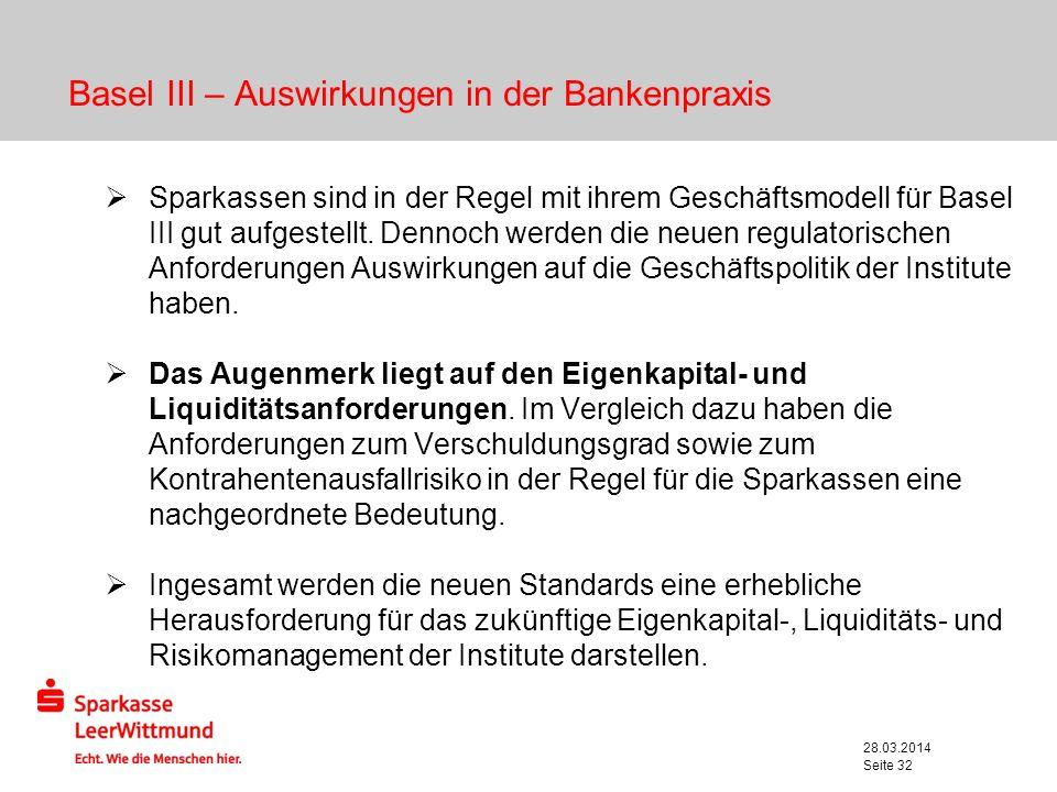 Basel III – Auswirkungen in der Bankenpraxis