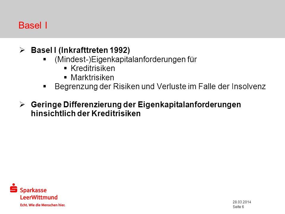 Basel I Basel I (Inkrafttreten 1992)