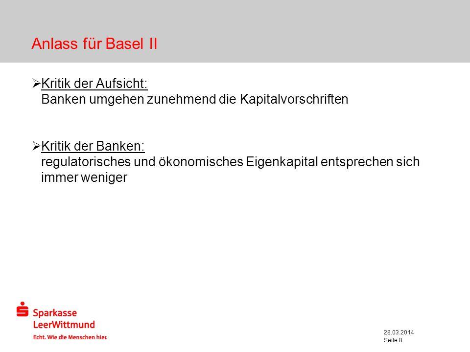 Anlass für Basel IIKritik der Aufsicht: Banken umgehen zunehmend die Kapitalvorschriften.