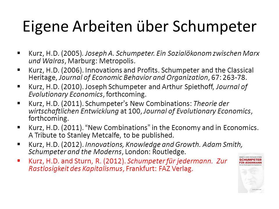 Eigene Arbeiten über Schumpeter