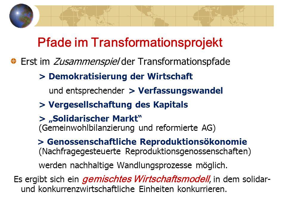 Pfade im Transformationsprojekt