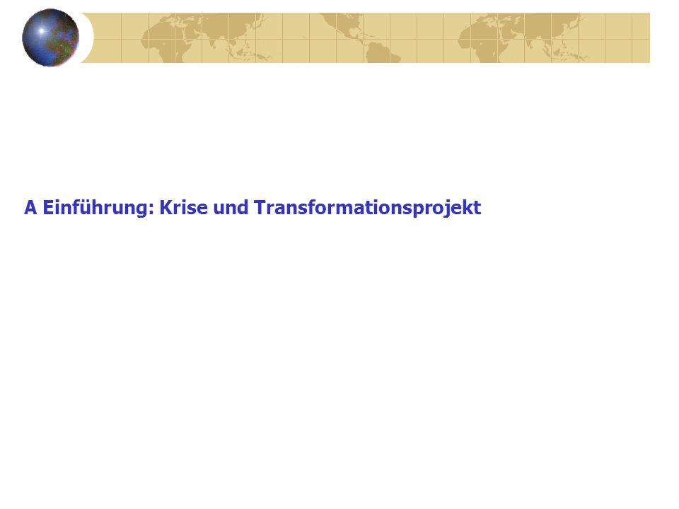 A Einführung: Krise und Transformationsprojekt