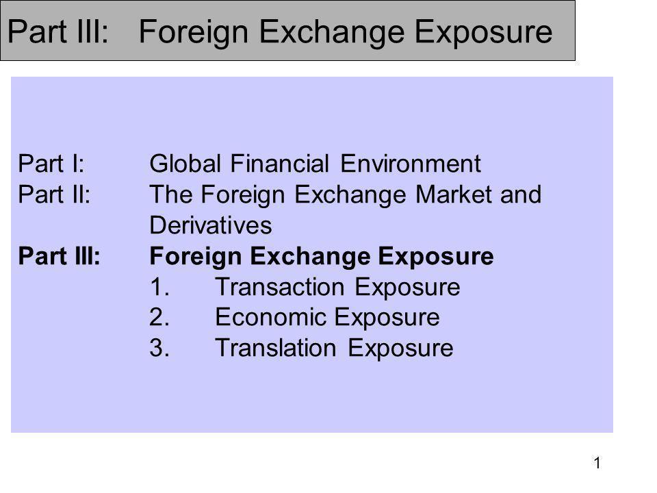 Part III: Foreign Exchange Exposure