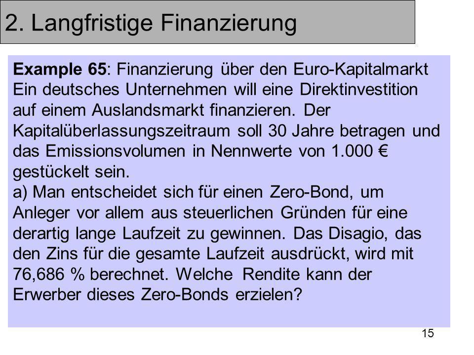 2. Langfristige Finanzierung