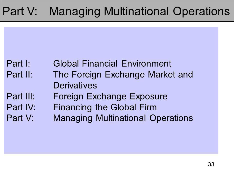 Part V: Managing Multinational Operations