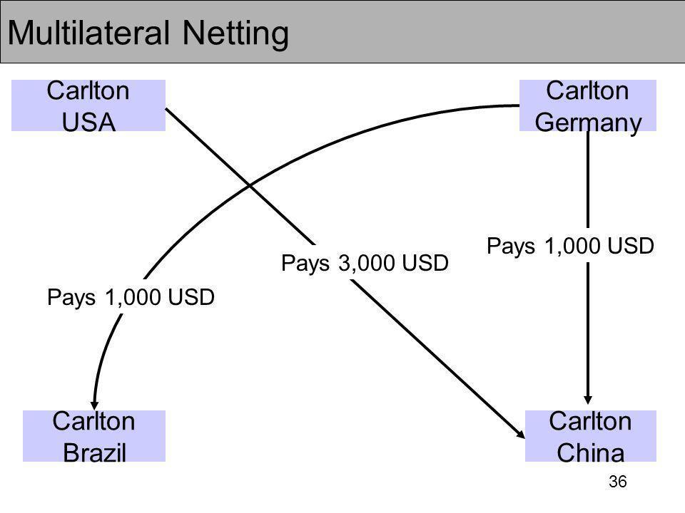 Multilateral Netting Carlton USA Carlton Germany Carlton Brazil