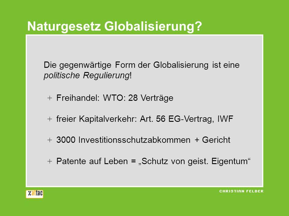 Naturgesetz Globalisierung