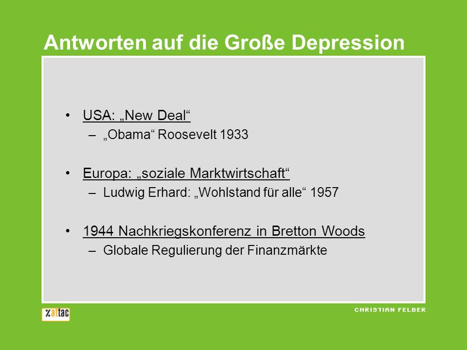 Antworten auf die Große Depression