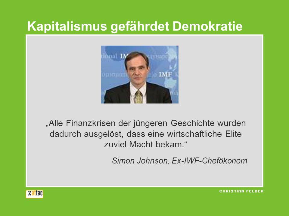 Kapitalismus gefährdet Demokratie