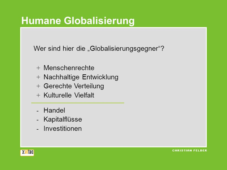 Humane Globalisierung