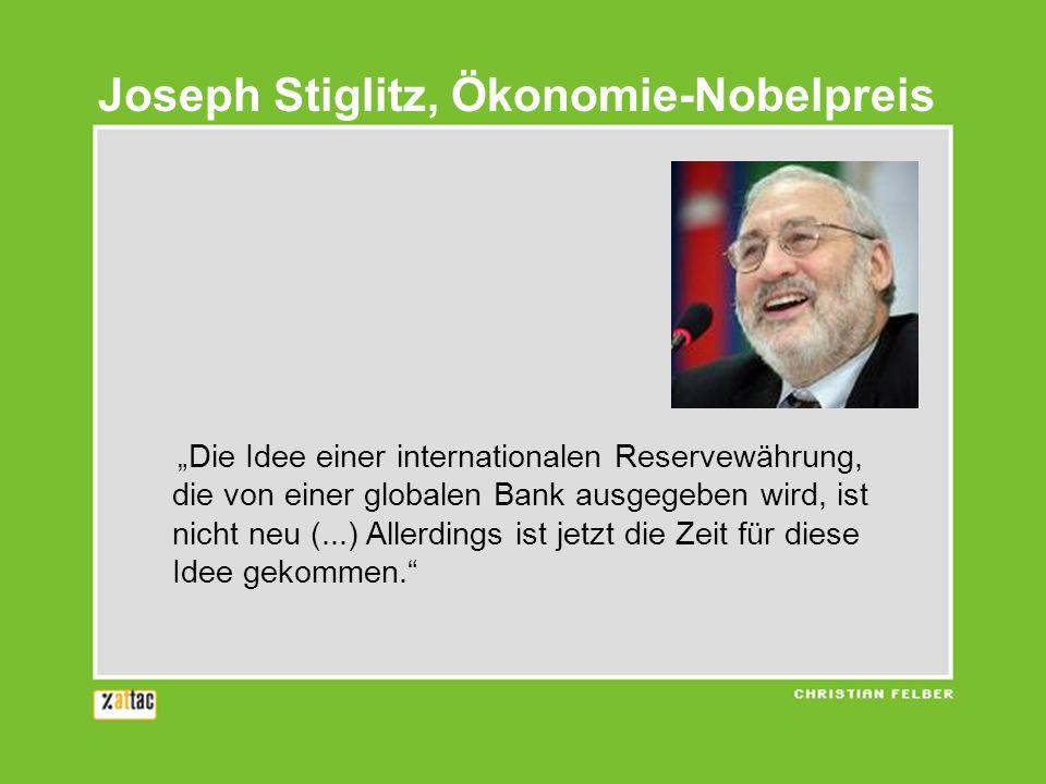 Joseph Stiglitz, Ökonomie-Nobelpreis