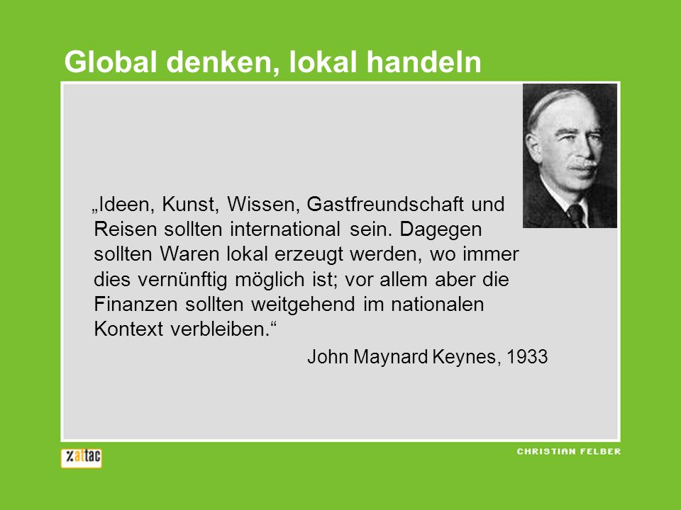 Global denken, lokal handeln