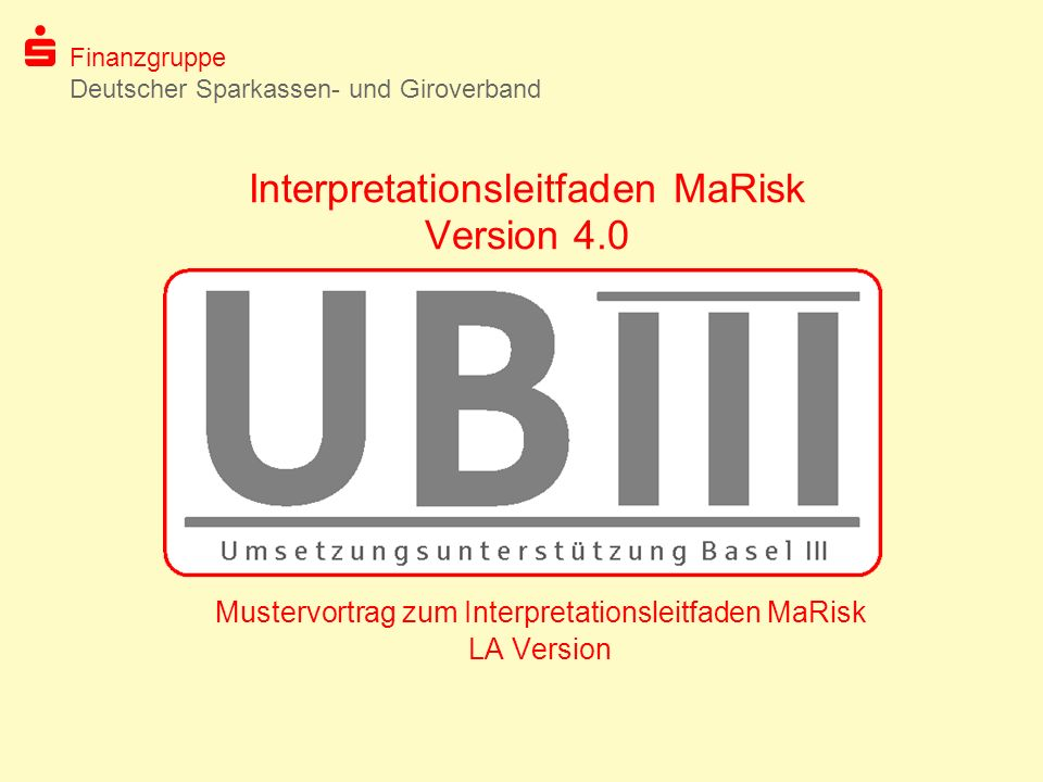 Interpretationsleitfaden MaRisk Version 4.0