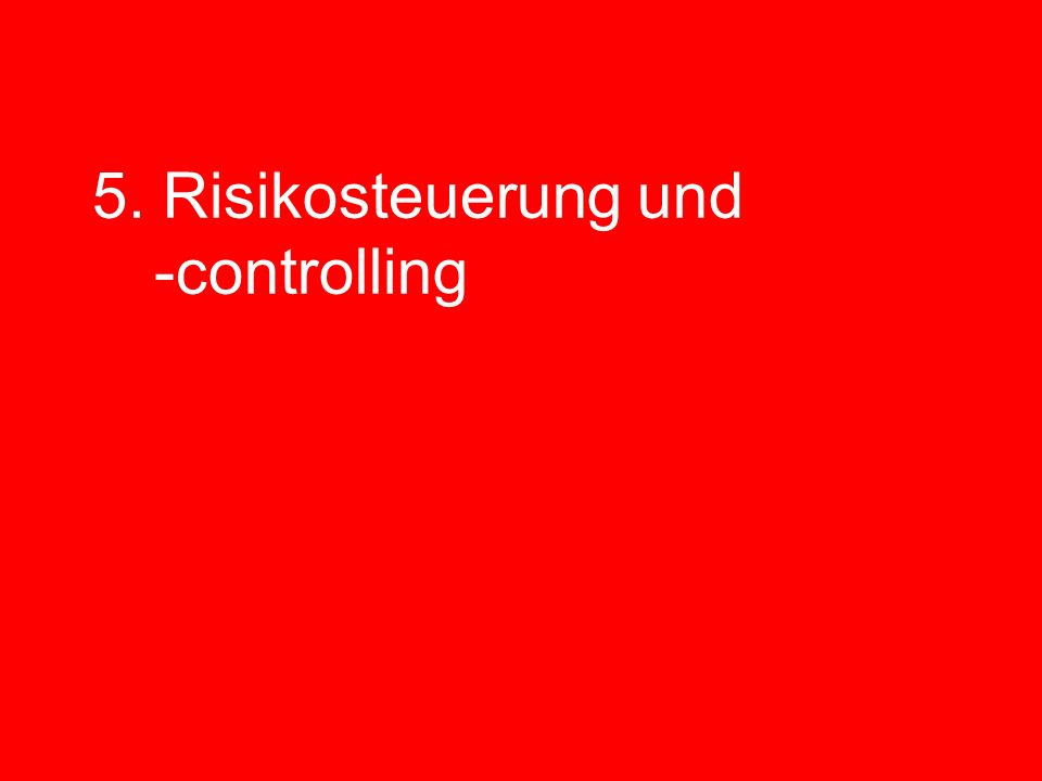 5. Risikosteuerung und -controlling