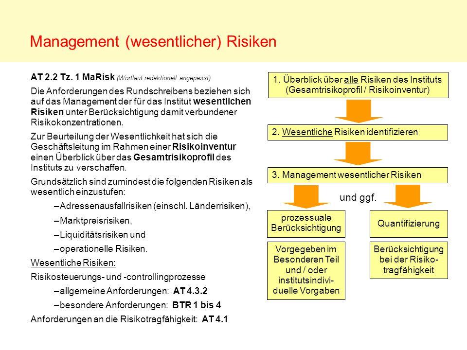 Management (wesentlicher) Risiken