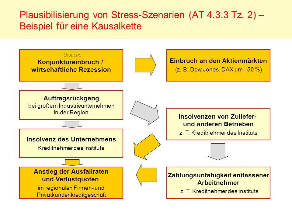Plausibilisierung von Stress-Szenarien (AT 4. 3. 3 Tz