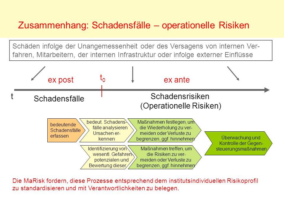 Zusammenhang: Schadensfälle – operationelle Risiken