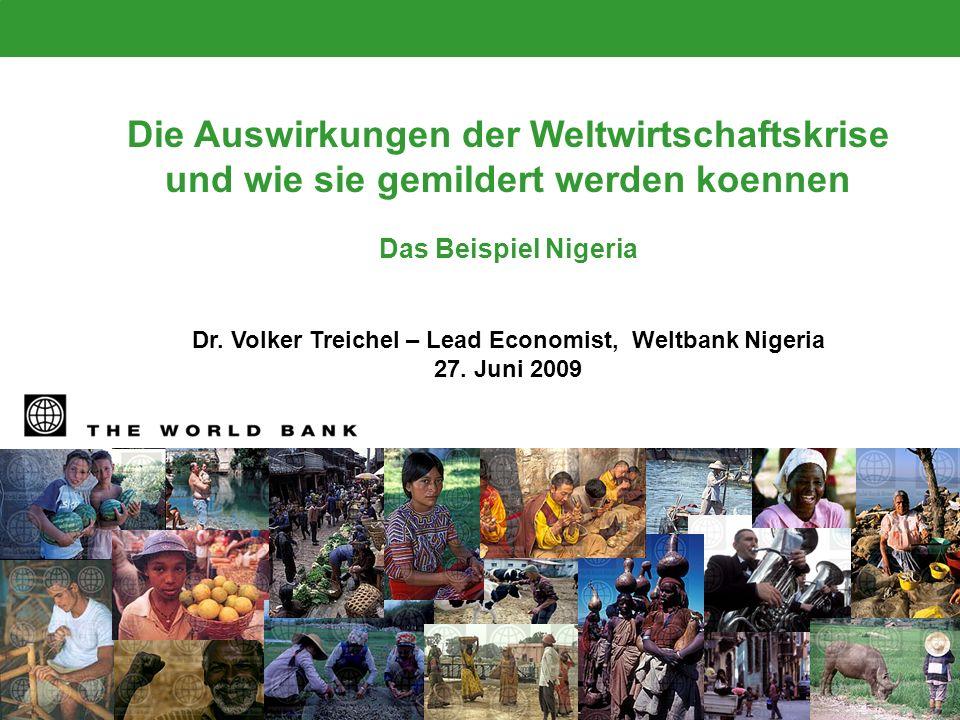 Dr. Volker Treichel – Lead Economist, Weltbank Nigeria