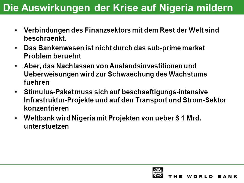 Die Auswirkungen der Krise auf Nigeria mildern