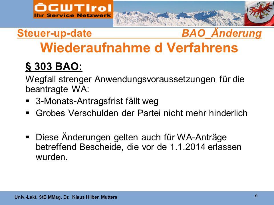 Steuer-up-date BAO_Änderung Wiederaufnahme d Verfahrens