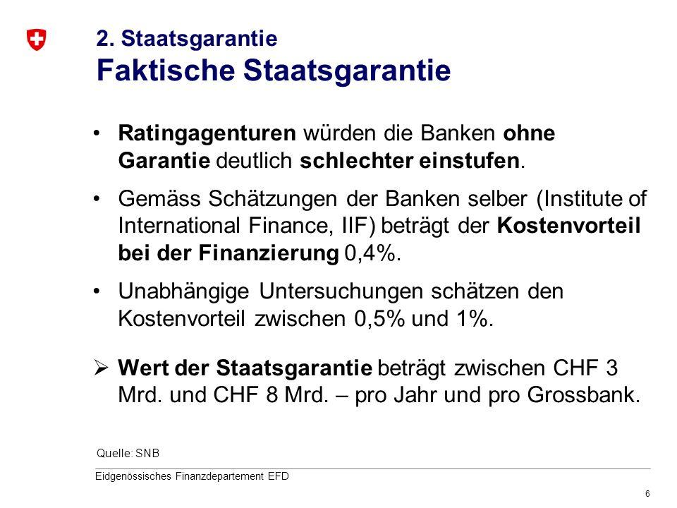 2. Staatsgarantie Faktische Staatsgarantie